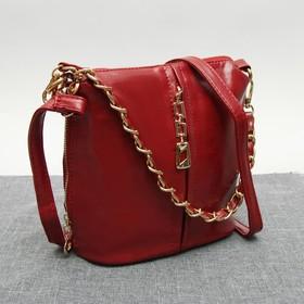 Сумка жен L-617, 20*10*21,отдел на молнии, 4 н/кармана, длинн ремень, красный