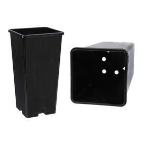 Набор для рассады: стаканы - 5 шт. по 2 л, чёрный Ош