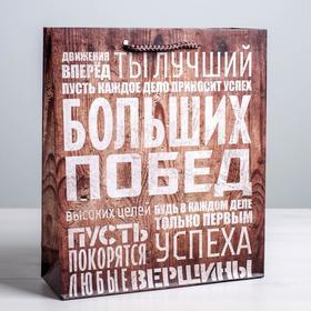 Пакет ламинат вертикальный «Больших побед», L 40 х 31 х 9 см