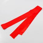 Лента атласная, ширина 10 см, красная, 3 м