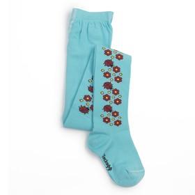 Колготки для девочки, рост 116-122, цвет светло-бирюзовый КДД1-2705