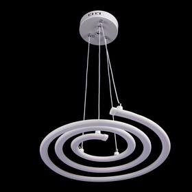 """Люстра """"Спираль"""" 2x60W LED 3000K/4000K белый 60x60x10 см"""