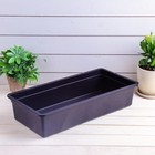 Ящик для рассады, 45 х 22 х 10 см, чёрный