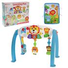 Игровой развивающий центр-турник 5 в 1 «Лёва», с подвесными игрушками, звуковые и световые эффекты, коврик в комплекте