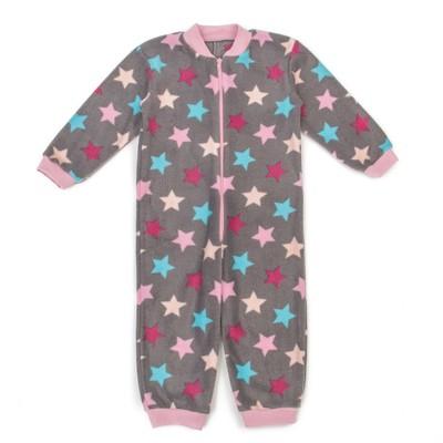 Комбинезон для девочки, рост 110 см, цвет фиолетовый, принт звезды 621772-10