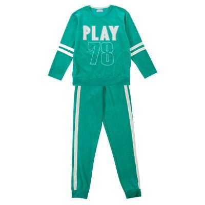 Комплект женский (джемпер, брюки) Р640168 цвет изумруд, р-р 50, рост 170-176