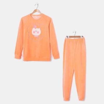 Комплект женский (джемпер, брюки) Р640335, цвет оранжевый, размер 46, рост 170-176
