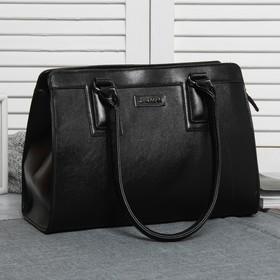 Сумка жен L-7030, 33*14*23, отдел с перег на молнии, н/карман, черный