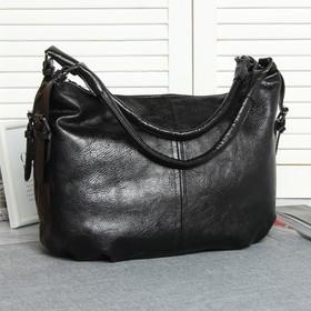 Сумка жен L-8592, 32*14*24, отдел с перег на молнии, н/карман, черный
