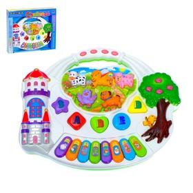 """Пианино детское """"Замок"""",световые и звуковые эффекты, работает от батареек"""