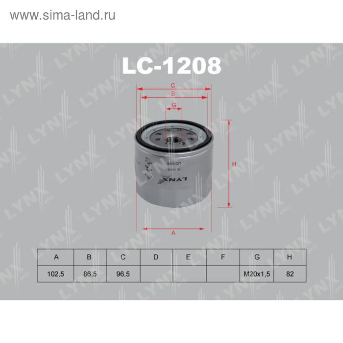 Фильтр масляный LYNXauto LC1208