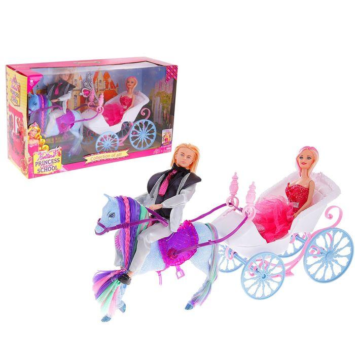 """Карета для куклы, с лошадкой """"Жених и невеста"""""""
