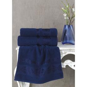 Полотенце Rebeka, размер 70х140 см, цвет синий, махра 350 г/м2 2658