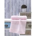 Полотенце Dora, размер 50х90 см, цвет светло-розовый, махра 380 г/м2 2748
