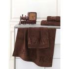 Полотенце Pamira, размер 50х90 см, цвет коричневый, бамбук 420 г/м2 2641