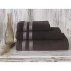 Полотенце Petek, размер 50х70 см, цвет коричневый, махра 380 г/м2 2143