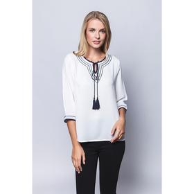 Блузка женская 7153-7, цвет белый, р-р 42 рост 175