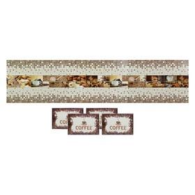 "Кухонное панно ПВХ с салфетками ""Кофе"" 2835х630 мм"