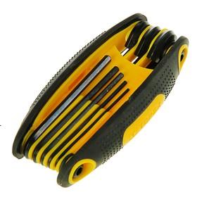 Ключи шестигранные TOPEX, CrV, 8 шт., 1.5-6 мм, антискользящая пласт. рукоятка Ош