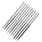 Надфили TOPEX, набор 10 шт., 140 мм, d = 3 мм, для точного шлифования металла, без ручки