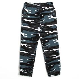 Брюки для мальчика, рост 98 см, цвет серый камуфляж Н1022