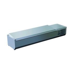 Витрина Gastrorag VRX 1600/330 s/s, +2 до +8°С, 8 гастроемкостей GN 1/4, серебристый Ош