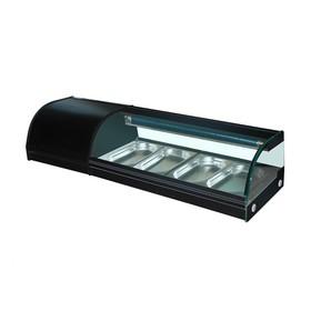 Витрина Gastrorag VRX-SSS1200, 0 до +6°С, 4 гастроемкости GN 1/3-25 мм, черный Ош
