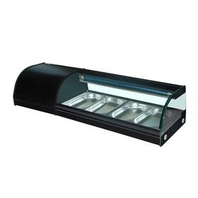 Витрина Gastrorag VRX-TS1200, +4 до +8°С, 4 гастроемкости GN 1/3-25 мм, черный Ош