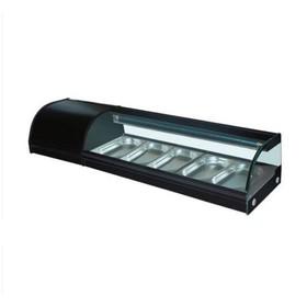 Витрина Gastrorag VRX-TS1500, +4 до +8°С, 5 гастроемкостей GN 1/3-25 мм, черный Ош