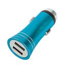 Автомобильное зарядное устройство LuazON С004, корпус металл, 2 USB порта, 2,1 А, синий