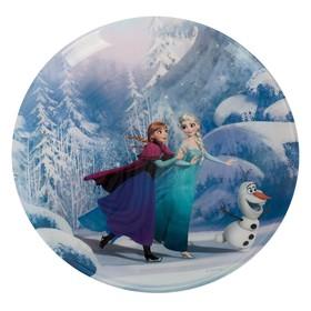 """Тарелка десертная 20 см """"Холодное сердце. Анна, Эльза и Олаф"""""""