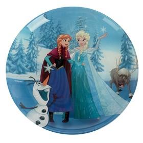 """Тарелка десертная 20,5 см """"Холодное сердце. Анна, Эльза, Олаф и Свэн"""""""