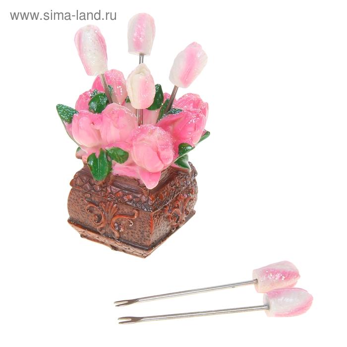 "Набор шпажек ""Чайная роза"" (6 штук)"