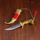 Сувенирный кортик, 19 см, рукоять в форме головы лошади