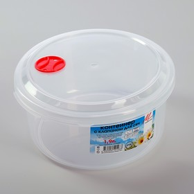 Контейнер пищевой 1,9 л с клапаном для СВЧ Ош