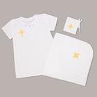 Набор крестильный для девочки (рубашка, пелёнка, мешок), рост 86-92 (28), 1,5-2 года,100% хлопок, бязь