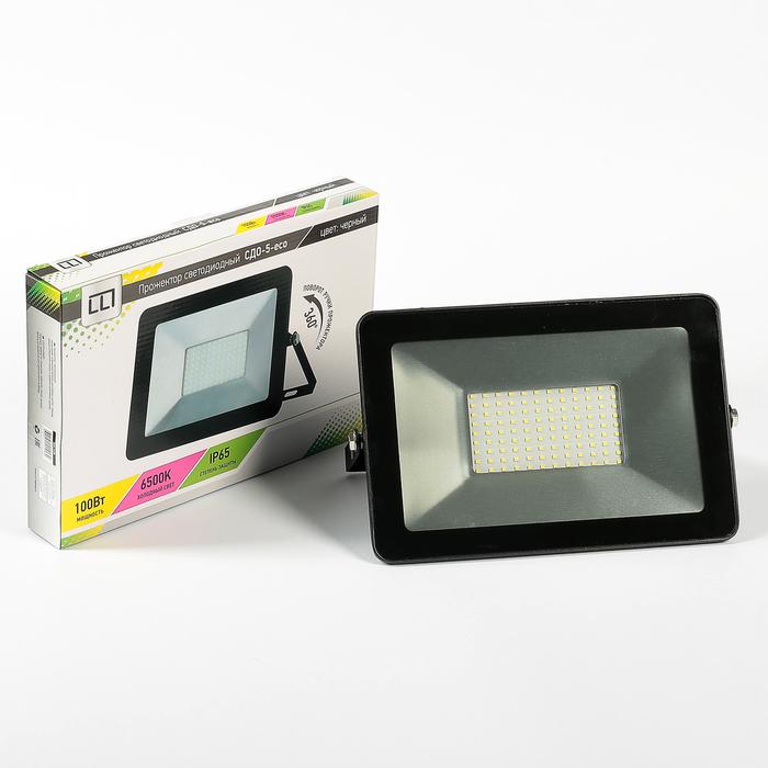 Прожектор светодиодный LLT СДО-5-100, 100 Вт, 230 В, 8000 Лм, 6500 К, IP65