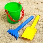 Набор  для игры в песке №28 ( Ведёрко+лопатка,грабельки)