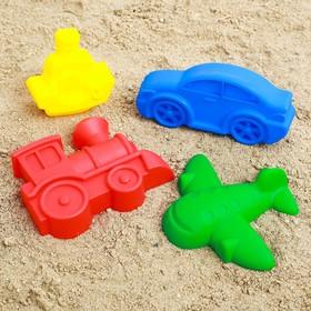 Набор  для игры в песке №69  ( 4 формочки)