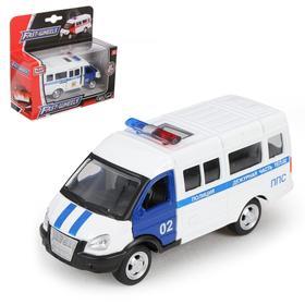 """Машина металлическая """"Микроавтобус Полиция"""", масштаб 1:50, инерция"""