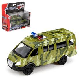 """Машина металлическая """"Микроавтобус военный"""", масштаб 1:50, инерция"""
