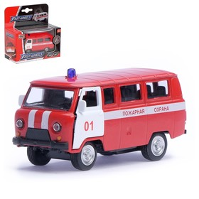 """Машина металлическая """" Пожарная служба"""", масштаб 1:50, инерция"""