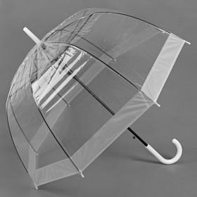 """Зонт полуавтоматический """"Кант"""", трость, R=60см, цвет белый"""
