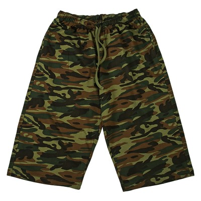 Шорты мужские, принт камуфляж, цвет зелёный, размер 50