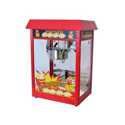Аппарат для попкорна Gastrorag VBG-POP6A-R, с канапе, 230 г, 1 котел/2 мин, красный