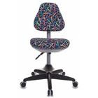 """Кресло детское Бюрократ KD-2/G/PENCIL-BL, синий, рисунок """"Карандаши"""""""
