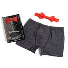 """Набор """"Истинный джентльмен"""" трусы и галстук-бабочка, размер 32"""