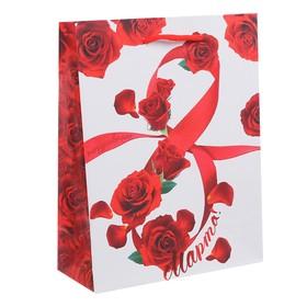 Пакет ламинат вертикальный «Международный женский день», S 11 х 14 х 5,5 см