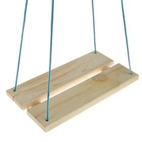 Качель  подвесная, деревянная 40х22см Ош