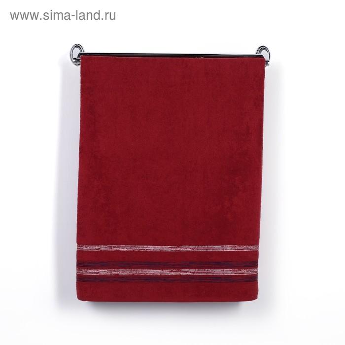 Полотенце DO&CO махр. жаккард 50*90 см CASABELLA бордовый хлопок 100%,440г/м